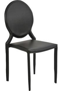 Cadeira Amanda Medalhão Preta Rivatti Móveis