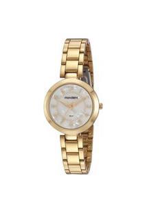Kit De Relógio Feminino Mondaine Analógico - 32106Lpmvde1Kf + Pulseira Dourado
