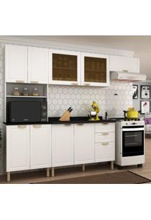 Cozinha Completa 5 Peã§As Americana Multimã³Veis 5676 Branco - Branco/Incolor - Dafiti