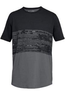 Camiseta Under Armour Casual Baseline Btb Masculina - Masculino-Preto+Cinza