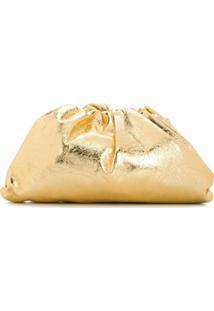 Bottega Veneta Clutch Com Efeito Enrugado - Dourado