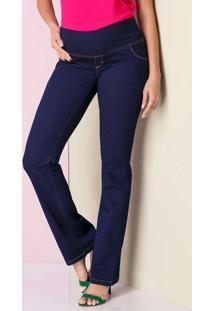 Calça Jeans Flare Básica Azul