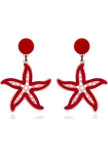 Brinco Le Diamond Estrela Do Mar Vermelho