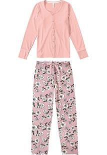 Pijama Longo Floral Malwee Liberta