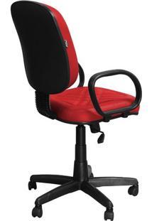 Cadeira Diretor Vermelha Giratória Com Regulagem E Braço De Apoio - Pethiflex