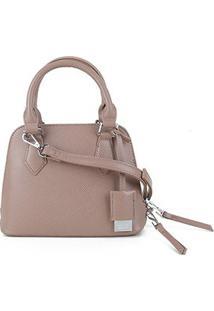 Bolsa Santa Lolla Handbag Risco Feminina - Feminino-Bege