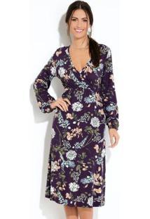 02296d9c9e Posthaus Vestido Clássico Jeans Escuro Com Botões. Ir para a loja  Vestido  Quintess Midi Floral Preto