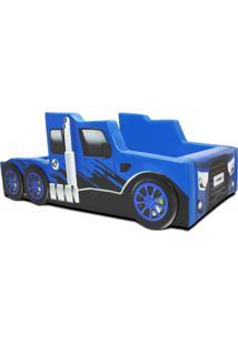 Cama Cama Carro Truck Falcon Azul