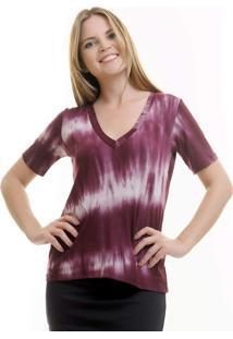 Camiseta Aura Tie Dye Vinho