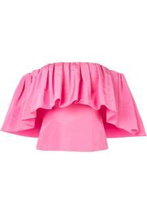 Carolina Herrera Off The Shoulder Blouse - Rosa