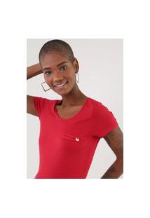 Camiseta Rovitex Recorte Vermelha