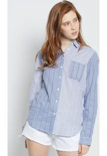 Camisa Listrada- Azul & Branca- Colccicolcci
