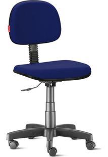 Cadeira Secretária Giratória Crepe Azul Marinho
