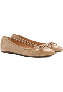 Sapatilha Shoestock Matelassê Bico Fino - Feminino-Nude