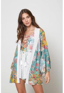Kimono Est Floral Jeju - Oh, Boy! - Feminino