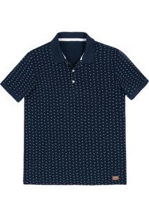... Camisa Polo Regular Masculina Em Malha Piquê De Algodão Estampada f538b073b9