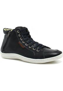 Sapatênis Zariff Shoes Cano Médio Zíper - Masculino-Preto