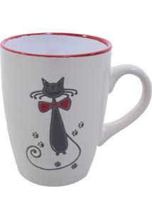 Caneca Minas De Presentes Gato Preto Branca