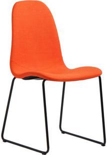 Cadeira De Jantar Chantilly Laranjada - Vitrine Do Mundo