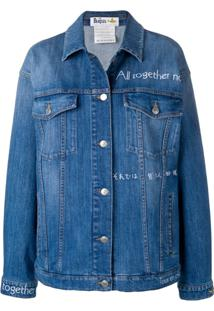 Stella Mccartney Jaqueta Jeans X The Beatles All Together Now - Azul