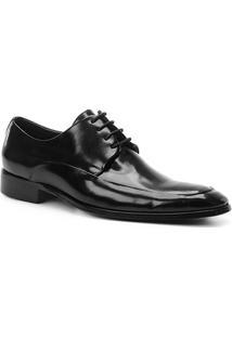 Sapato Social Couro Shoestock Napa Romana Masculino - Masculino-Preto