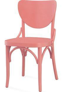 Cadeira Para Sala Eléonore Laca Rosa Coral - 44X49,5X82,5 Cm