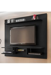 Painel Para Tv Até 55 Polegadas Atlas 6 Prateleiras 2075120 Preto Fosco - Bechara Móveis