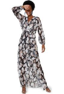 Vestido Longo Fenda E Transparência