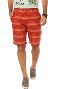 Bermuda Hang Loose Ethnic Laranja