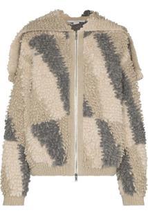 Stella Mccartney Jaqueta De Lã Com Capuz - Estampado