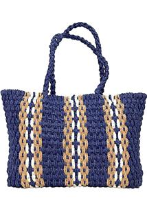 Bolsa Its! Shopper Palha Azul