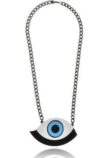 Colar Le Diamond Olho Grego Acrilico - Kanui