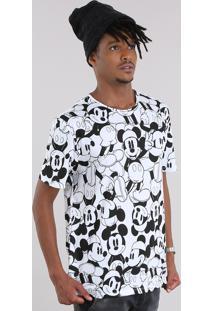 Camiseta Estampada Mickey Branca