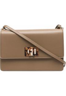 Furla Leather Satchel Bag - Marrom