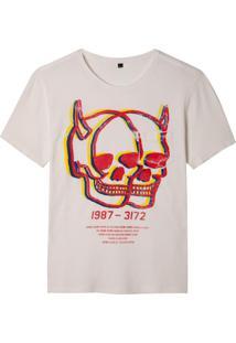 Camiseta John John Rx Double Sight Malha Off White Masculina (Off White, Gg)