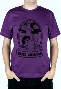 Camiseta Bleed American Fontana Roxo