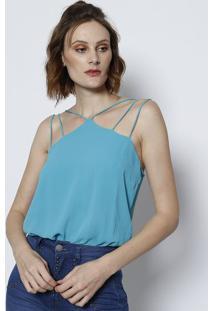 Body Texturizado Com Tiras - Azul Clarotvz