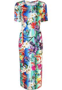 Mary Katrantzou Vestido Com Listras E Estampa Floral - Estampado
