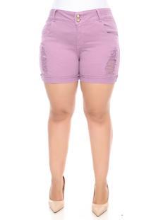 Shorts Marileti Plus Size Lilás-54