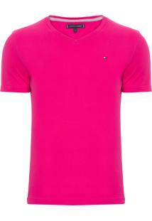 Camiseta Masculina Wcc Essential Cotton V-Neck - Rosa