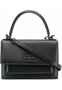 Balenciaga Bolsa Sharp - Preto