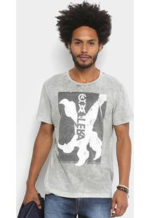 Camiseta Cavalera Estampada Masculina - Masculino-Areia