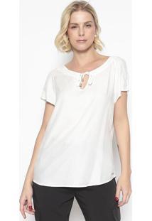 Blusa Texturizada Com Amarração- Branca- Vip Reservavip Reserva