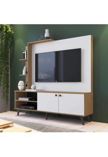 Estante Home Para Tv Até 50 Polegadas 2 Portas Lov-It Retrô Es530 Decibal Naturalle Branco Off