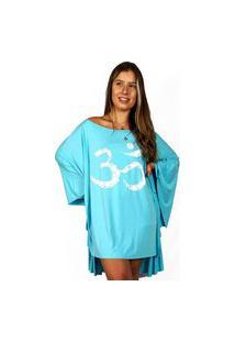 Bata Kaftan Wss Brasil Om Feminina Azul