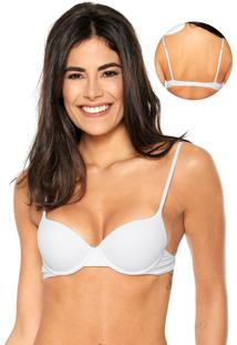 Sutiã Bonjour Push-Up Slim Branco