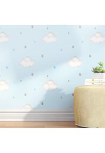Papel De Parede Nuvens E Gotinhas Azul Grã£O De Gente Azul - Azul - Menino - Dafiti
