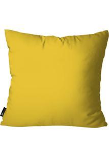 Capa Para Almofada Mdecore Lisa Amarelo 55X55Cm
