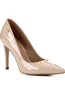 Scarpin Shoestock Salto Alto Naked - Feminino-Macadamia