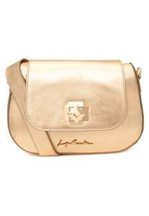 Bolsa Feminina Metal Leather - Dourado